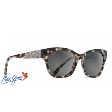 Maui Jim Monstera Leaf sunglasses with White Tokyo with 24K White Gold Frame and Neutral Grey Lens