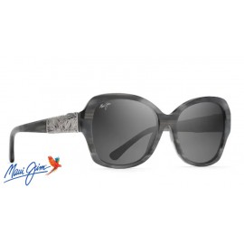Maui Jim Swaying Palms sunglasses with Blue Grey and Pearl with White Gold Frame and Neutral Grey Lens